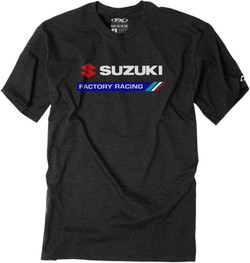 Factory Effex Suzuki Factory Racing Tee - Black, All Sizes