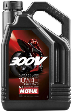 Motul 300V 4T Factory Line 10W-40 Synthetic Oil 4 Liters (104121)