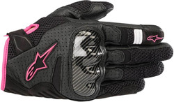 Alpinestars Women's Stella SMX-1 Air V2 Glove, Black/Fuchsia, Medium
