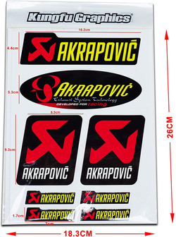 Akrapovic Exhaust Stickers by Kungfu Graphics