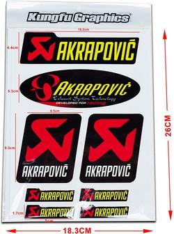Akrapovic Exhaust Stickers by Kungfu Graphics