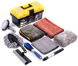 Mofeez 9pcs Car Cleaning Tools Kit with