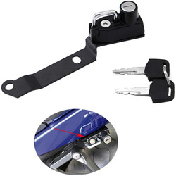 Motorcycle Helmet Lock Anti-Theft for Yamaha YZF-R25 up-2019 YZF-R3 MT-25 MT-03 up-2020 - Black
