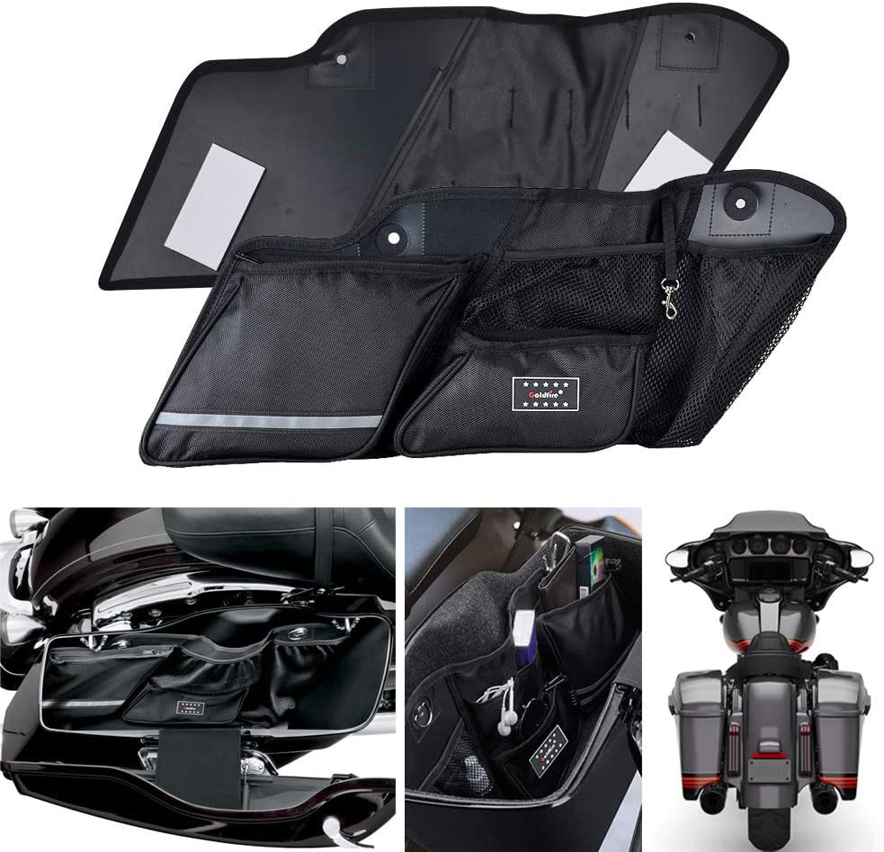 Sresk 2PCS Hard Saddlebag Side Organizer