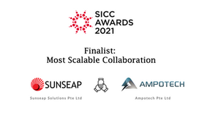 Ampotech and Sunseap are Finalists for Most Scalable Collaboration at the 2021 SICC Awards