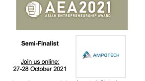 Ampotech Named Semi-Finalist for 2021 Asian Entrepreneurship Award