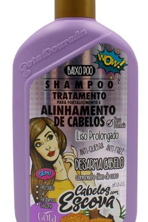 Shampoo GOTA DOURADA Alinhamento de Cabelos Liso Prolongado 430ml