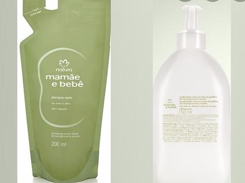Refil Shampoo200ml  Condicionador 150ml Mamãe Bebê Natura