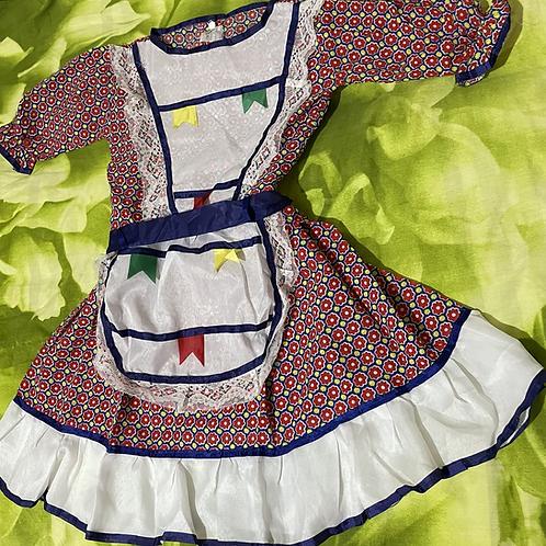 1 Vestido de festa Junina /Junina party dress 8 Years/ Brazilian Product