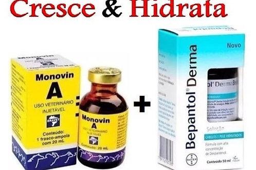 Kit Monovin a Bepantol vitamina a cabelo mais forte