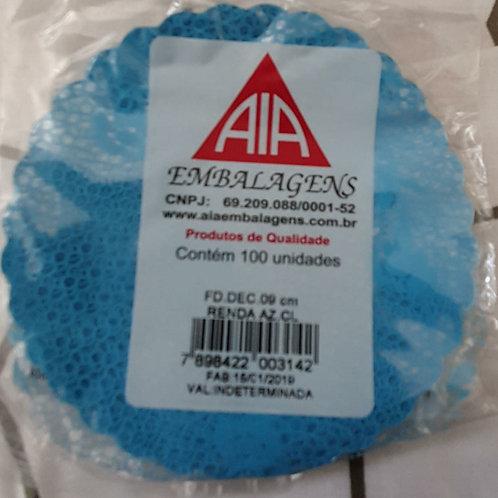 1 Pct de Tapetinho Azul c/100 unidades 9cm