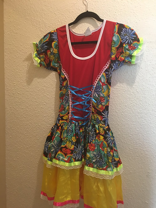 Vestido de Caipira adulto médio size 10