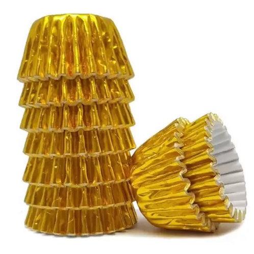 Forminha para Docinhos N.5 Metalizada Dourada