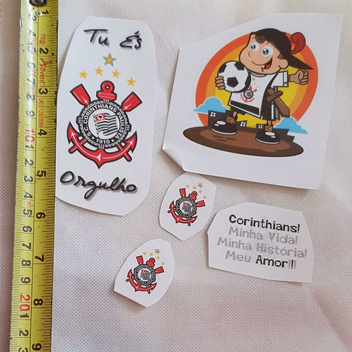 Adesivos para moto do Corinthians