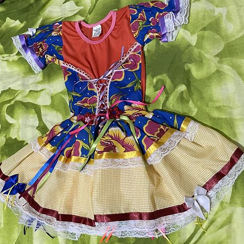 1 Vestido de festa Junina /Junina party dress 6 Years/ Brazilian Product