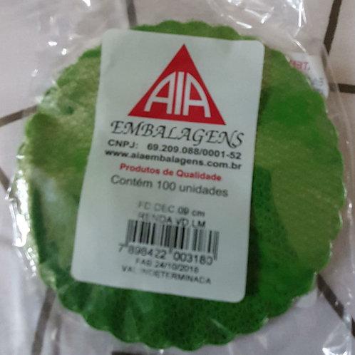 1 Pct de Tapetinho Verde c/100 unidades 9cm