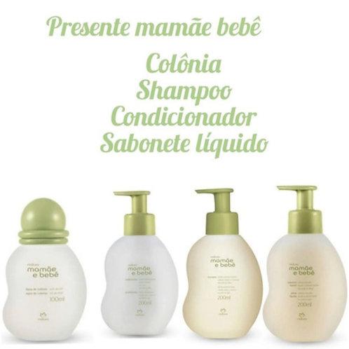 Kit Mamãe Bebê Sabonete Líquido, Shampoo E Condicionador e colonia