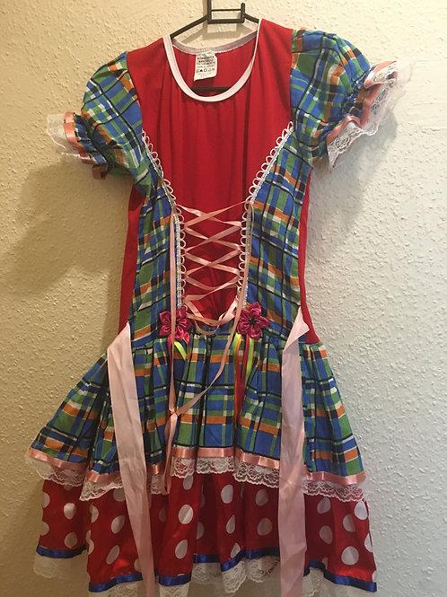 Vestido de Caipira adulto pequeno size 8