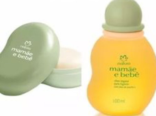 Kit Mamãe Bebê (óleo+sabonete Com Saboneteira) Natura