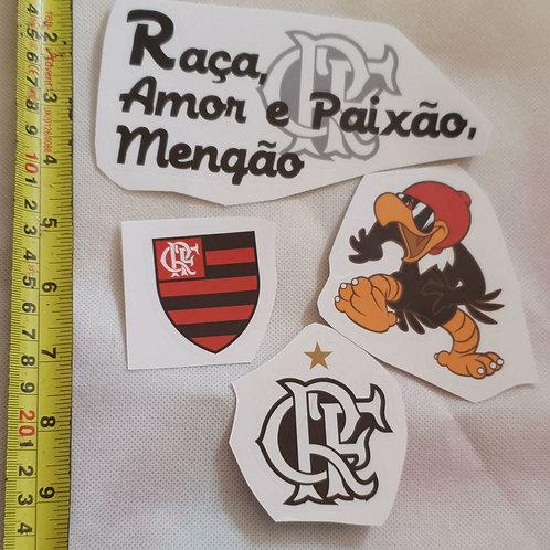 Adesivos para moto do Flamengo