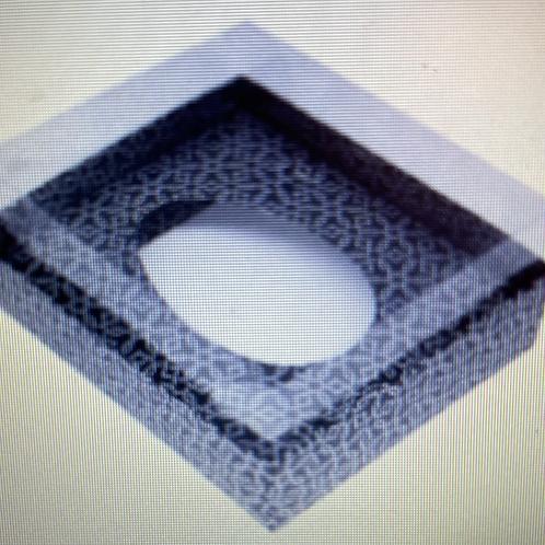 1 Caixa Base Ovo de Colher 350g Geométrica Prata/Preto sem Colher - YIN