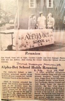 Alpha-Bet 20 year Reunion - 1988.