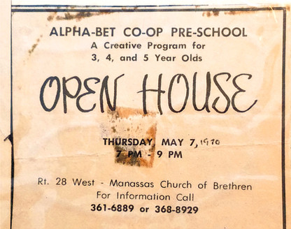 Open house newspaper announcement dated 1970.