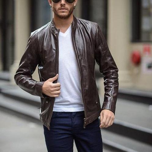 Кожаная куртка мужская 2019