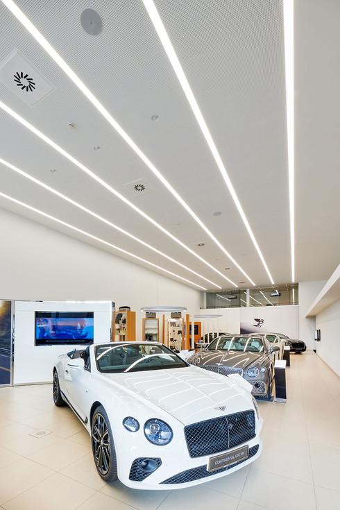 Bentley & Lamborghini showroom