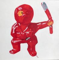 Forgotten Ninja 12x12 Acrylic on Canvas, HLH Art