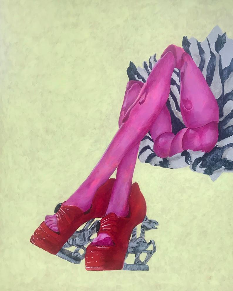 Cheeky 24x30 Acrylic on Canvas, HLH Art