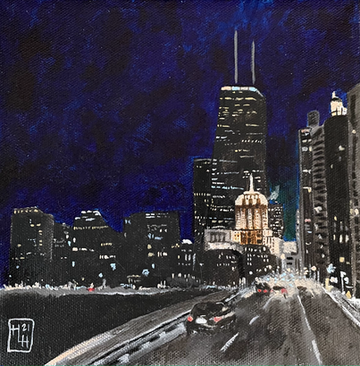 Home is Where the Heart Is 8x8 Acrylic on Canvas, HLH Art