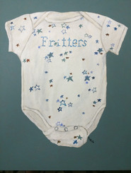 Fritters Printmaking Onesie 9x12 Acrylic on Canvas, HLH Art