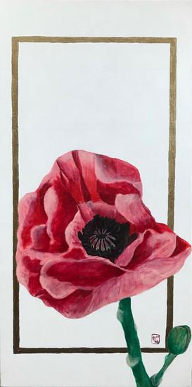 Poppy 1 10x20 Acrylic on Canvas HLH Art