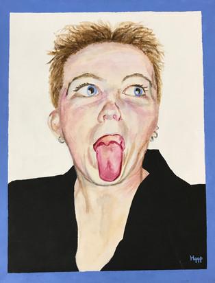 Melpomene Formerly Thalia 15x20 Acrylic on Canvas, HLH Art