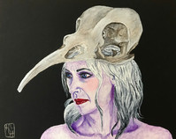 The Morrigan 8x10 Acrylic on Canvas HLH Art