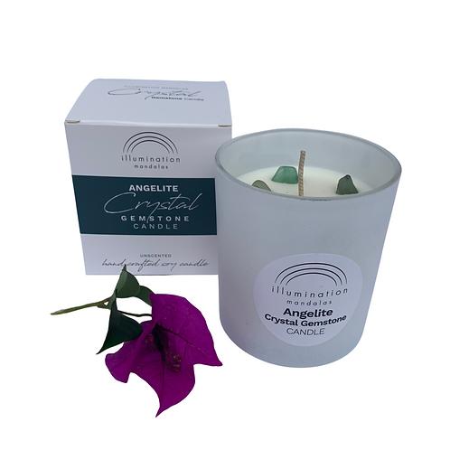 Gemstone Candle - Green Angelite