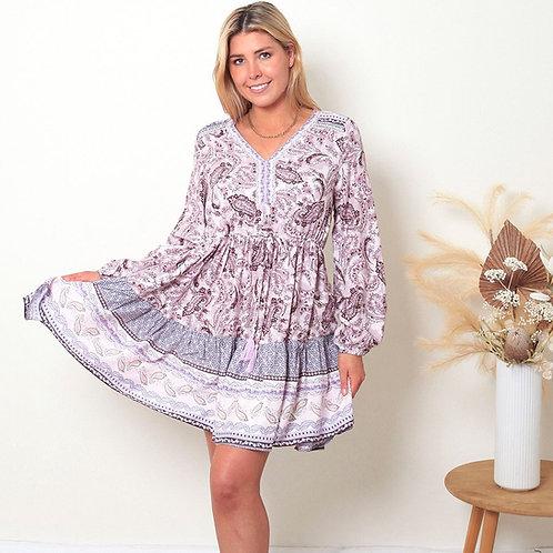 Janine Long Sleeves Mini Dress