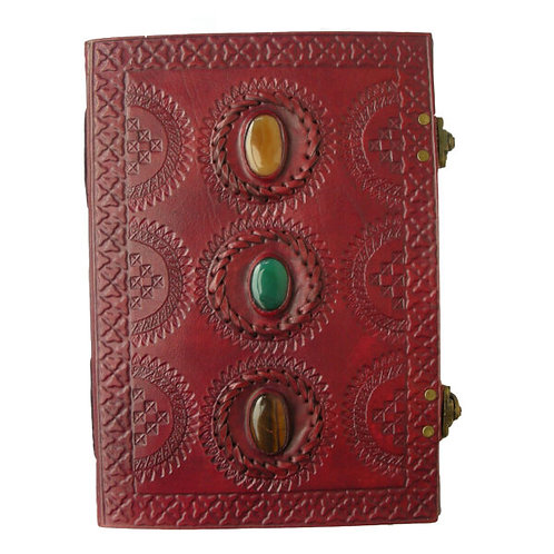 Large Leather Journal - 3 stones