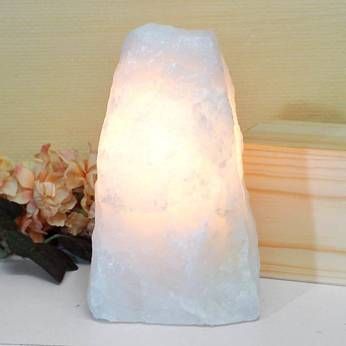 Natural Clear Quartz Crystal Lamp - no base