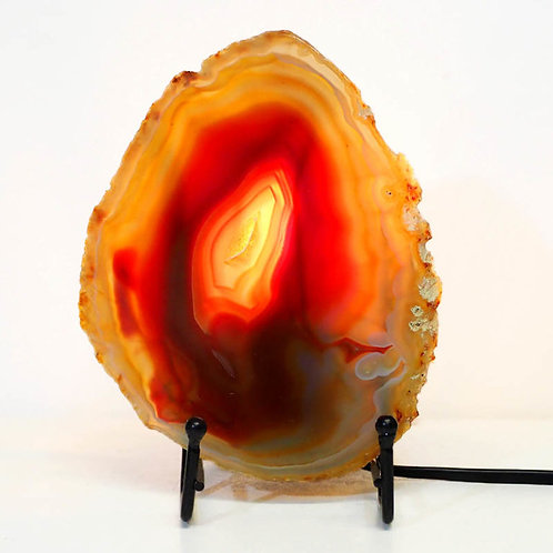 Sliced Brazilian Crystal Agate Lamp 01