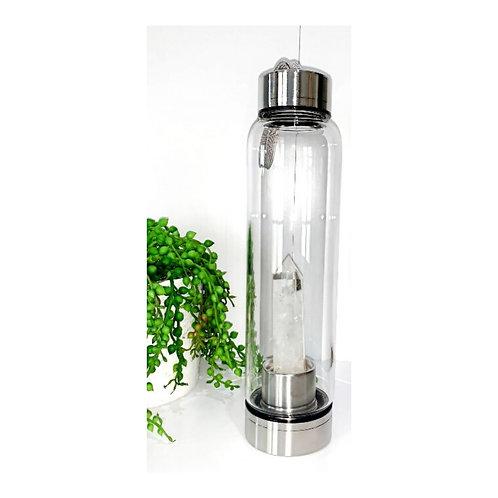 Quartz Crystal Stainless Steel Water Bottle