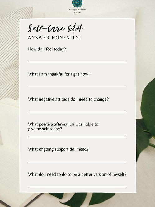 Self Care Q & A