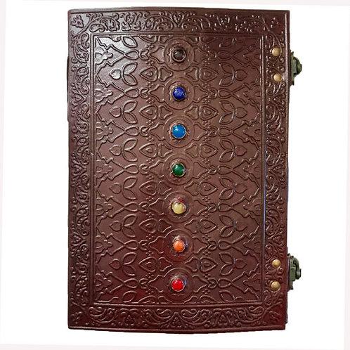 Large Leather Journal - 7 Chakra Stone