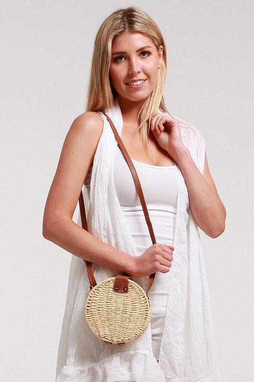 Small Round Straw Bag
