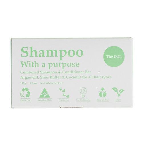 Clover Fields Shampoo with a Purpose Bar (shampoo & conditioner) The O.G. 125g