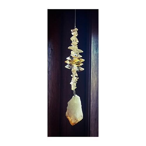 Natural Stone Sun Catcher - Citrine