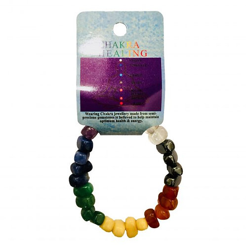 Crystal Bracelet - Chakra Tumbled Stones
