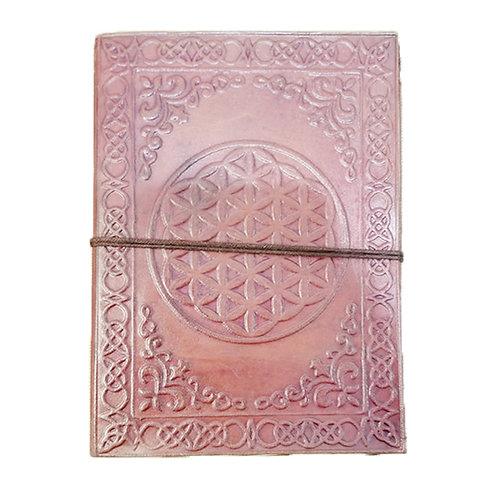 Medium Leather Journal - Flower Of Life