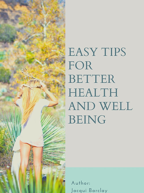 E-Book Easy Tips To Better Health And Well Being